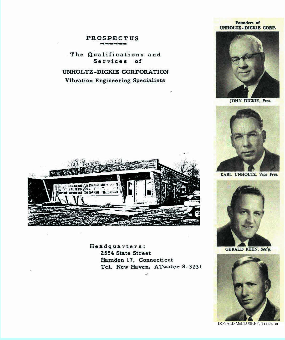 Unholtz-Dickie Corporation in 1940