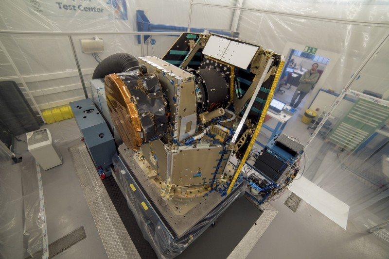 CHEOPS - CHaracterising ExOPlanet Satellite - is the first mission dedicated to searching for exoplanets. The vibration test of the structural model at RUAG Space in Zurich in 2015 simulated the high vibration launch of the satellite into the earth orbit