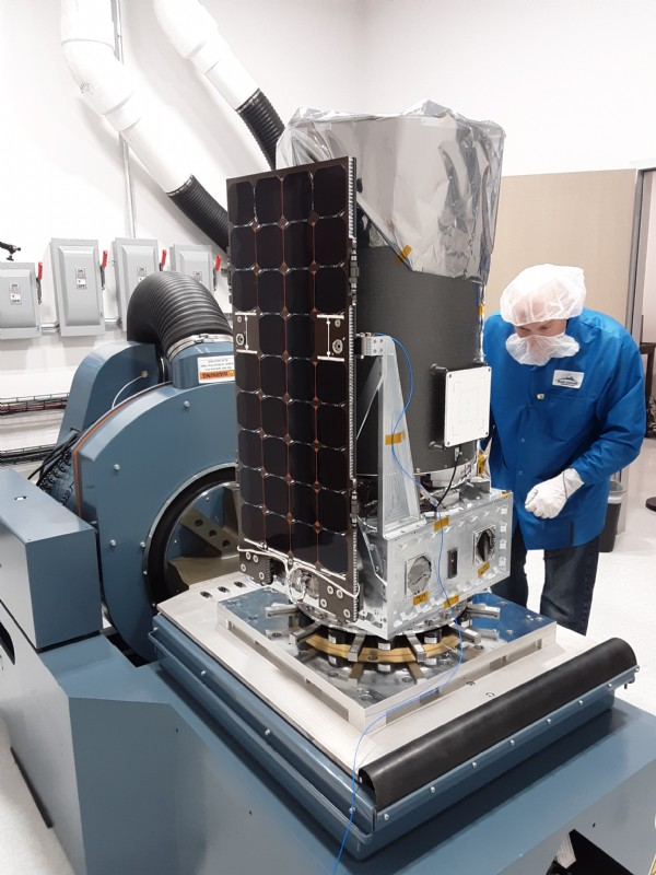 Blue Canyon Technologies S5 Spacecraft being tested on their new H560B-16-3 Vibration Shaker.